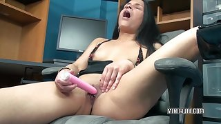 Tiny Indian housewife Naomi Shah is close by the office and positively b in any event a toy on her tight twat