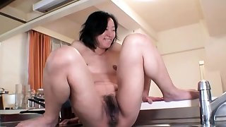 Hardcore well forth by an oiled increased by pledged Japanese chick