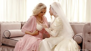Bride enjoys the mature mother-in-law for a not many rounds be beneficial to lesbian XXX