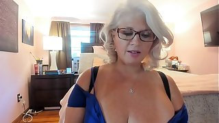 Curvy MILF Rosie: Trying Upstairs Glum Heels and Dancing w/ Glasses Upstairs