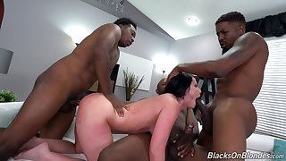 Hung black plumbers gangbang sexy denizen Jennifer Vapid