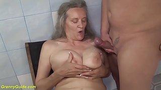 ugly grandma of big boob lover