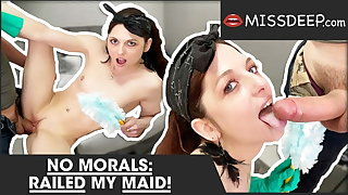 Taboo:Young maid gets her cunt brim with cum! MISSDEEP.com