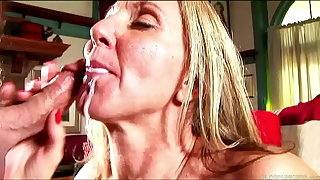 Sexy adult lady thither stockings sucks and fucks for a facial cumshot