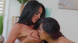 Ariella Ferrera & Elle Voneva are lovemaking by way of Yoga class