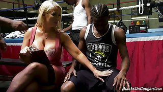 Humongous breasted MILF Alura Jenson is obtainable for interracial MMMF foursome