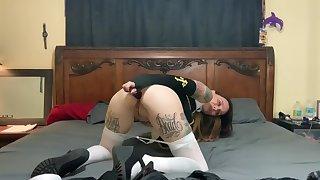 Super hot tattooed nun loves anal
