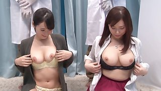Hardcore group pussy fuck with couple be advantageous to Japanese babes