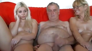 Grandpa with an increment of grandma coax young horny granddaughter live at sexycamx