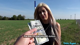 Sexy Blanche Summer agrees to fuck a stranger in influence a rear for cash
