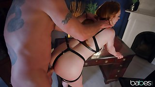 Sweet cosset plays obedient for her master and provides totalitarian BDSM
